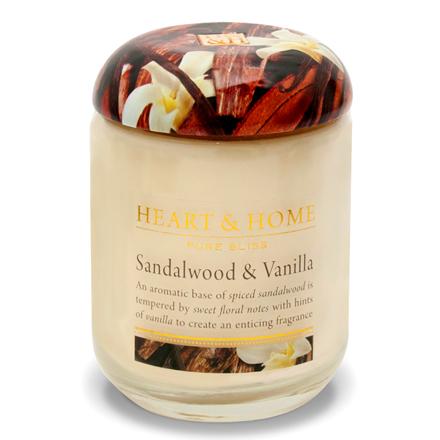 Heart&Home, Свеча «Cандаловое дерево и ваниль», большая, 310 г