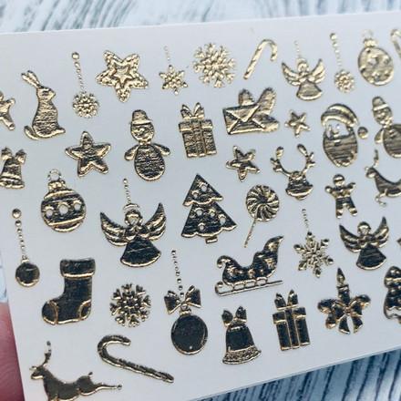 Купить Anna Tkacheva, 3D-слайдер Crystal Gold №194 «Рождество. Новый год»