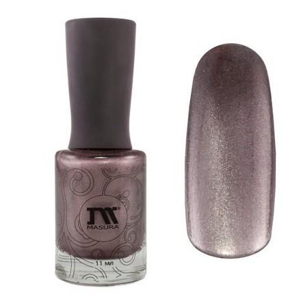 Masura, Лак для ногтей №904-181, Органза и кашемирМагнитные лаки Masura<br>Магнитный лак (11 мл) темно-сливовый, с перламутром, плотный<br><br>Цвет: Фиолетовый<br>Объем мл: 11.00