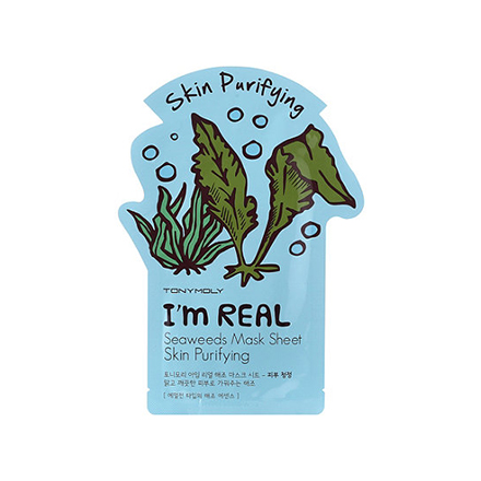 Tony Moly, Тканевая маска для лица I'm Real Seaweeds Mask Sheet Skin Purifying tony moly master lab vitamin c brightening mask sheet маска отбеливающая на основе витамина с 19 мл