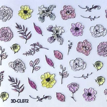 Купить Anna Tkacheva, 3D-стикер CL №072 «Цветы. Веточки»
