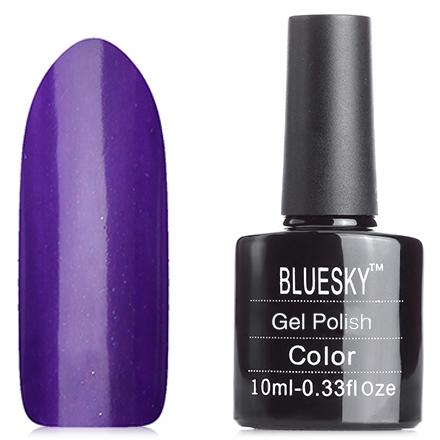 Bluesky, Гель-лак A17Bluesky Шеллак<br>Гель-лак (10 мл) насыщенный темно-фиолетовый, с микроблестками, плотный.<br><br>Цвет: Фиолетовый<br>Объем мл: 10.00