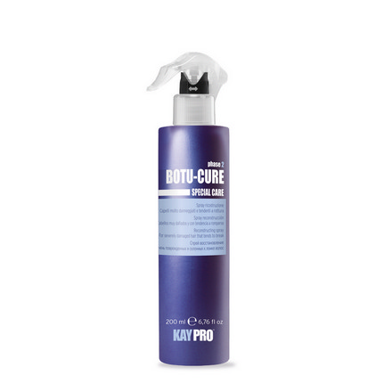 KAYPRO, Спрей Botu-Cure, 200 млСпреи для волос <br>Несмываемое восстанавливающее средство для сильно поврежденных и ломких волос.