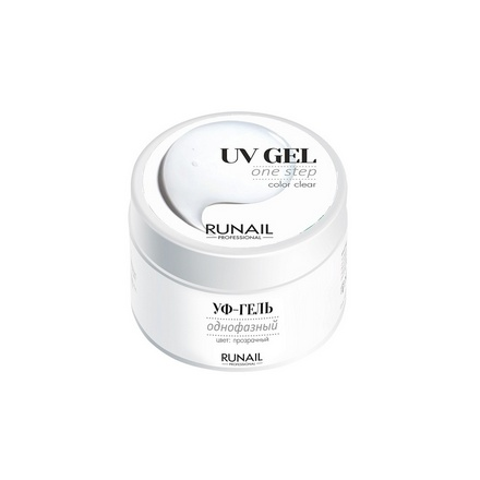 ruNail, Однофазный UV-гель, прозрачный, 56 г runail базовый uv гель 15 г