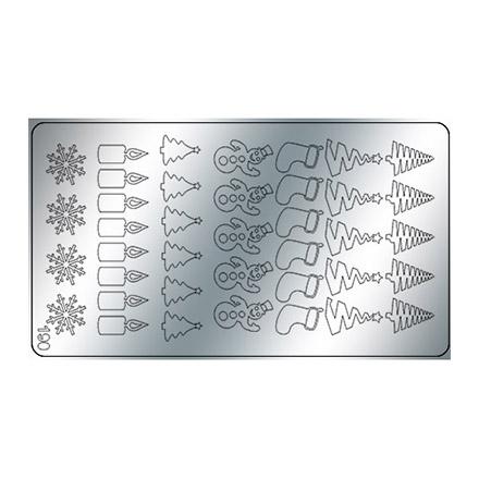 Купить Freedecor, Металлизированные наклейки №190, серебро