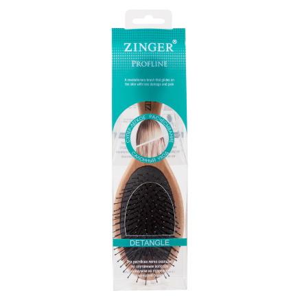 Купить Zinger, Расческа массажная, деревянная, с нейлоновыми штифтами, в упаковке