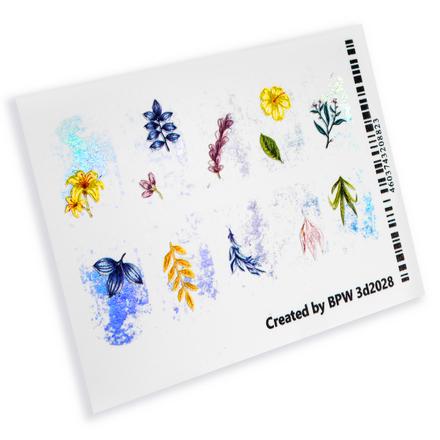 Купить BPW.style, 3D-слайдер «Glass, серебро, голография, цветы» №3d2028