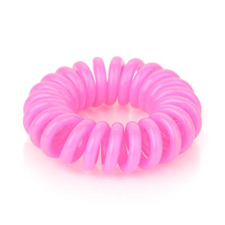 Резинка для волос силиконовая, неоново-розовая