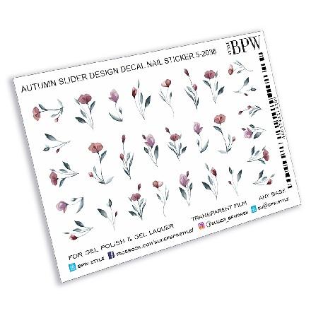 Купить BPW.Style, Слайдер-дизайн «Осенние цветы», №5-2036