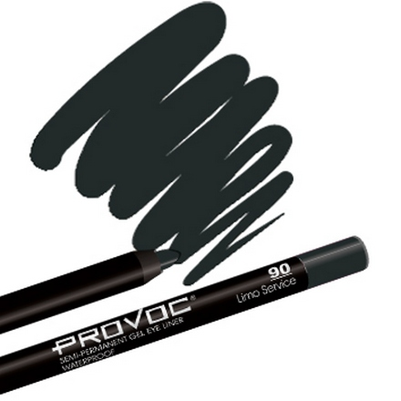 Provoc, Gel Eye Liner 90 Limo Service, Цвет черный карандаш для глаз provoc semi permanent gel eye liner 80 цвет 80 practically magic variant hex name 4d4434