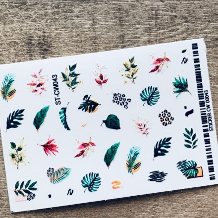 Купить Anna Tkacheva, Стикер ST-CW №043 «Веточки. Листья»