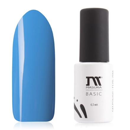 Masura, Гель-лак Basic №294-82, Безмятежность (LED)Masura трехфазный шеллак<br>Гель-лак (6,5 мл) васильковый, без блесток и перламутра, плотный. Данный цвет полимеризуется только в LED-лампе.<br><br>Цвет: Синий<br>Объем мл: 6.50