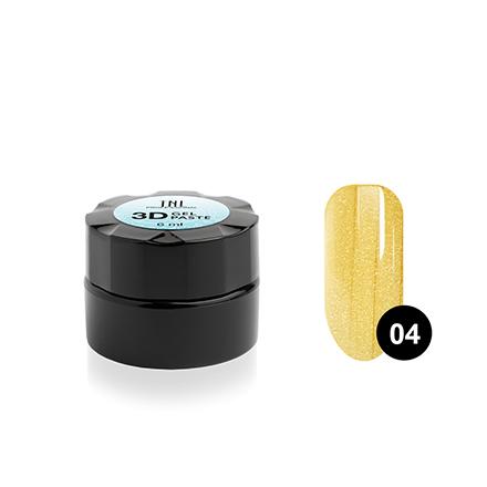 Купить TNL, Гель-паста 3D №04, желтое золото, 6 мл, TNL Professional