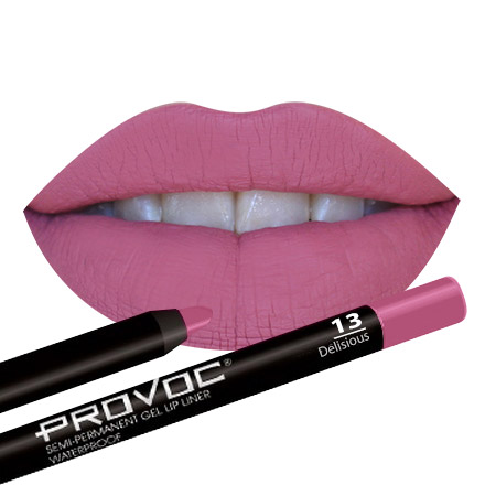 Provoc, Гелевая подводка-карандаш для губ №13, Delicious, цвет розово-малиновый