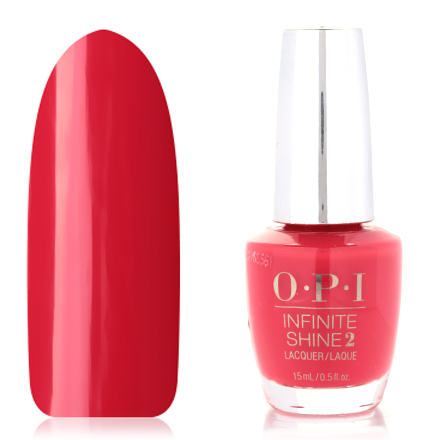 OPI, Infinite Shine Nail Lacquer, Unrepentantly Red, 15 мл