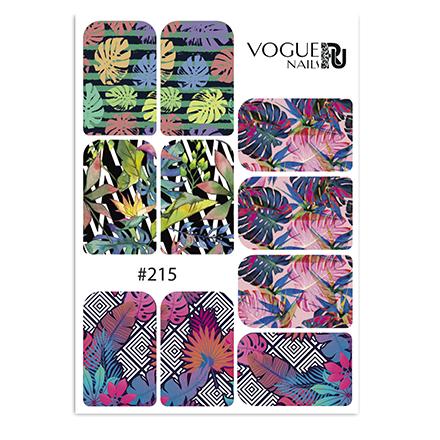 Vogue Nails, Слайдер-дизайн №215  - Купить