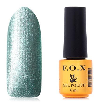 FOX, Гель-лак Platinum №004F.O.X<br>Гель-лак (6 мл) светло-зеленый, с большим количеством перламутра, плотный.
