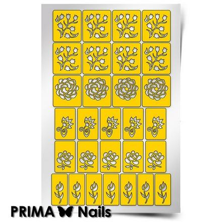 Купить Prima Nails, Трафареты «Цветочный микс 1»