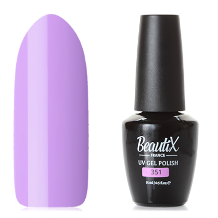 Beautix, Гель-лак № 351, 15 млBeautix<br>Гель-лак (15 мл) лавандовый, без перламутра и блесток, плотный.<br><br>Цвет: Фиолетовый<br>Объем мл: 15.00