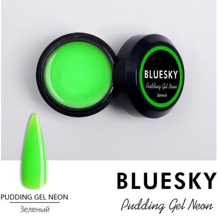 Купить Bluesky, Pudding Gel Neon, зеленый, 8 г, Зеленый