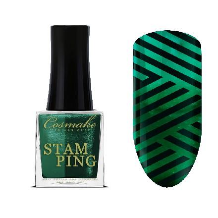 Cosmake, Лак для стемпинга №11, металлический зеленый недорого