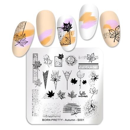 Купить Born Pretty, Пластина для стемпинга Autumn №001
