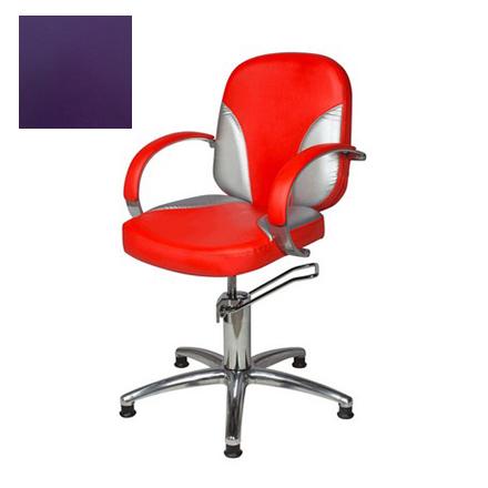 Купить Мэдисон, Кресло парикмахерское «Валентина люкс» гидравлическое, хромированное, фиолетовое