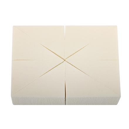 LIMONI, Спонжи в блоке, треугольные, 8 шт.Кисти для макияжа<br>Набор спонжей для нанесения кремовых продуктов. В упаковке 8 штук.