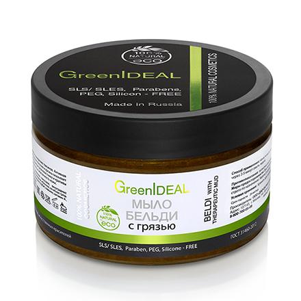 Купить GreenIDEAL, Мыло Бельди с грязью, 200 г