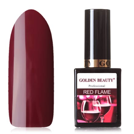 Bluesky, Гель-лак Golden Beauty Red Flame №08Bluesky Шеллак<br>Гель-лак (14 мл) вишневый, без перламутра и блесток, плотный.<br><br>Цвет: Красный<br>Объем мл: 14.00