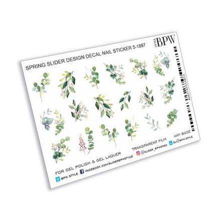 BPW.style, Слайдер-дизайн «Зеленые веточки» №sd5-1887  - Купить