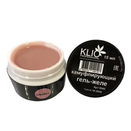 Klio Professional, Камуфлирующий гель-желе №0945 все для акрилового наращивания ногтей