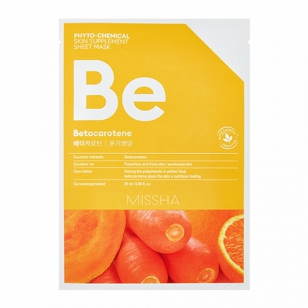Купить Missha, Маска для лица Phyto-chemical Betacarotene, 25 мл