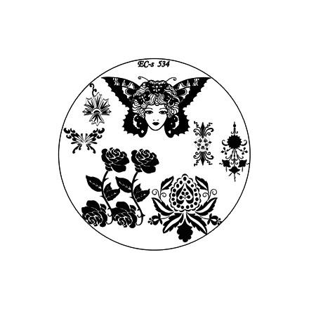 El Corazon, диск для стемпинга № EC-s 534Диски для стемпинга<br>Изображения, с помощью которых вы сможете создать великолепные рисунки на ногтях, которые очень сложно создать вручную.<br>