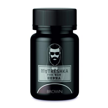 Matreshka, Хна в капсулах для бровей и бороды, Brown, 30 шт. фото