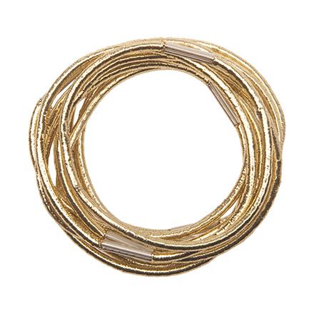 Купить Dewal, Резинки для волос Midi, золотистые, 10 шт.