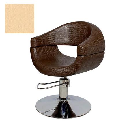Купить Мэдисон, Кресло парикмахерское «МД-108» гидравлическое, хромированное, светло-бежевое