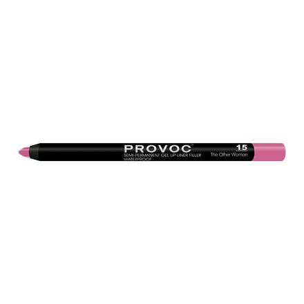 Provoc, Гелевая подводка-карандаш для губ №15, The Other Woman, цвет фуксия