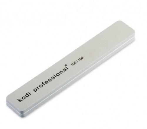 Kodi, Баф серый 100/100Пилки для искусственных ногтей<br>Профессиональный баф для шлифовки акриловых и гелевых ногтей.<br>