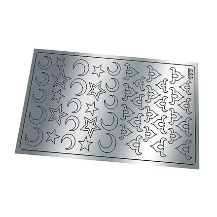 Купить Freedecor, Металлизированные наклейки №177, серебро
