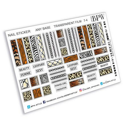 Купить BPW.style, Наклейки «Леопард» №ns7-4