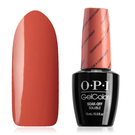 Гель-лак OPI GelColor, цвет Crawfishin' for a Compliment