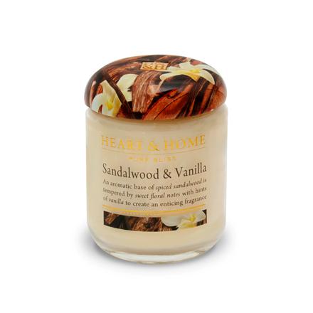Heart&Home, Свеча «Сандаловое дерево и ваниль», маленькая, 110 г