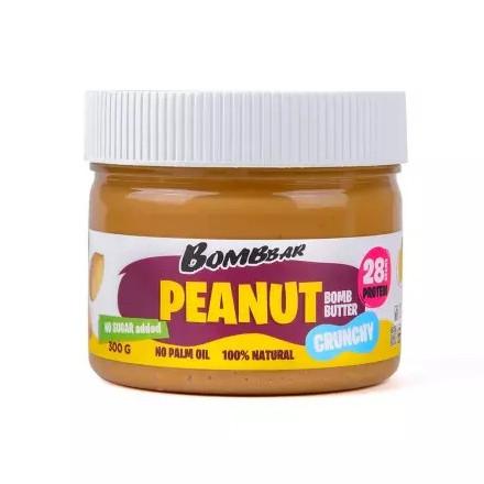 Bombbar, Паста арахисовая Peanut Bomb, хрустящая, 300 г