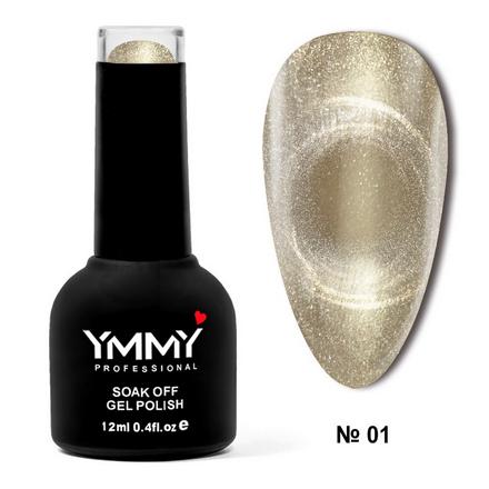 Купить YMMY Professional, Гель-лак Cat Ice №001, Золотой
