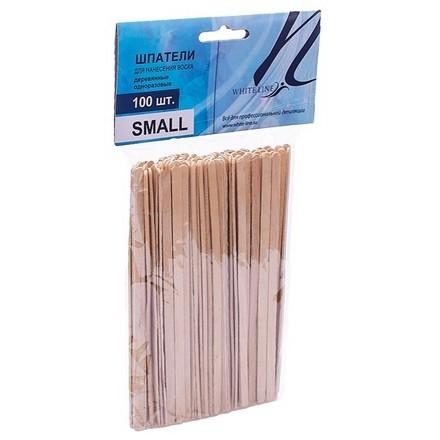 White line, Шпатели деревянные малые, 100 шт. (White Line)