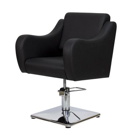 Купить Мэдисон, Кресло парикмахерское «МД-24» гидравлическое, хромированное, черное