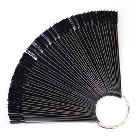 Patrisa nail, Палитра для лаков и дизайна веерная на 50 цветов, черная