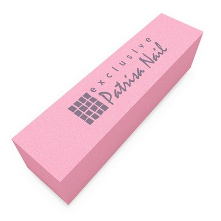 Patrisa Nail, Шлифовочный блок розовый 180/240 (Patrisa nail)
