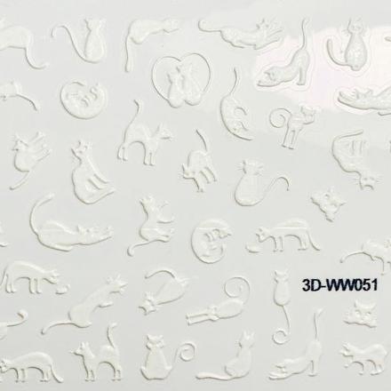 Anna Tkacheva, 3D-стикер №051 «Животные. Кошки», белый фото